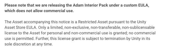 Adam Interior EULA example 2019