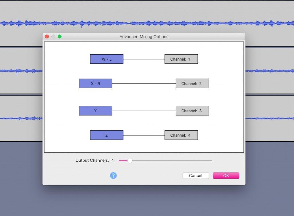 Exporting Ambisonic Audio in Audacity