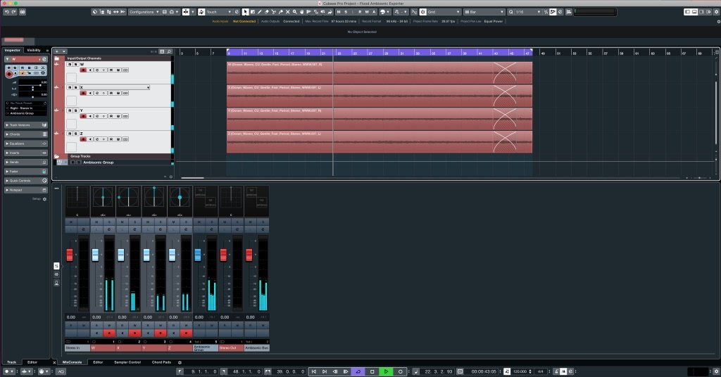 Making Ambisonics in Cubase