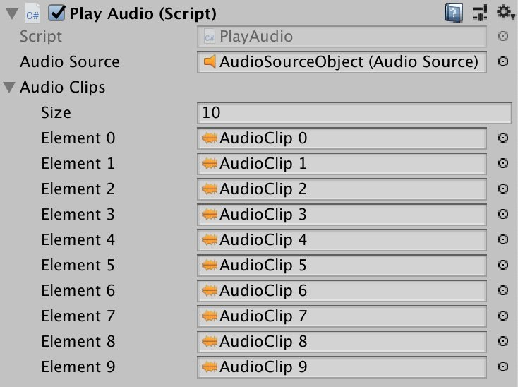Audio Clip Array in Unity