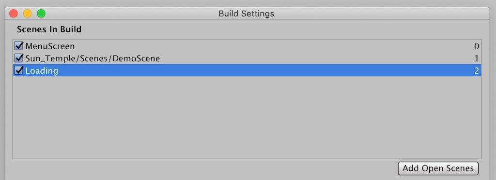 Unity Build Settings Window