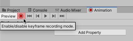 Enable keyframe recording