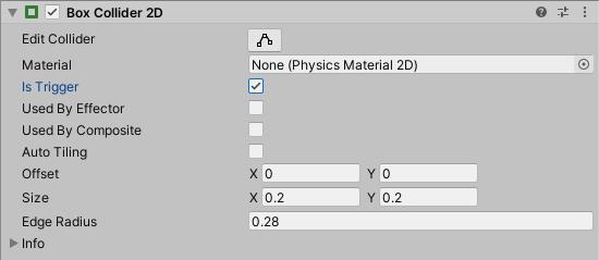 2D Collider Component Trigger