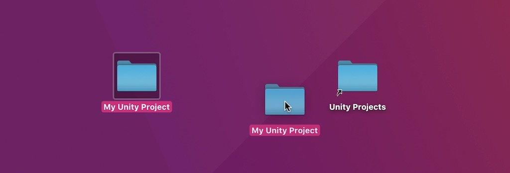Moving a Unity Project to a new folder (visualisation)