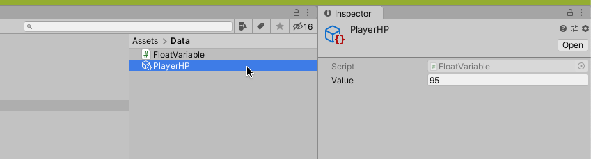 Set Global Variable in Inspector