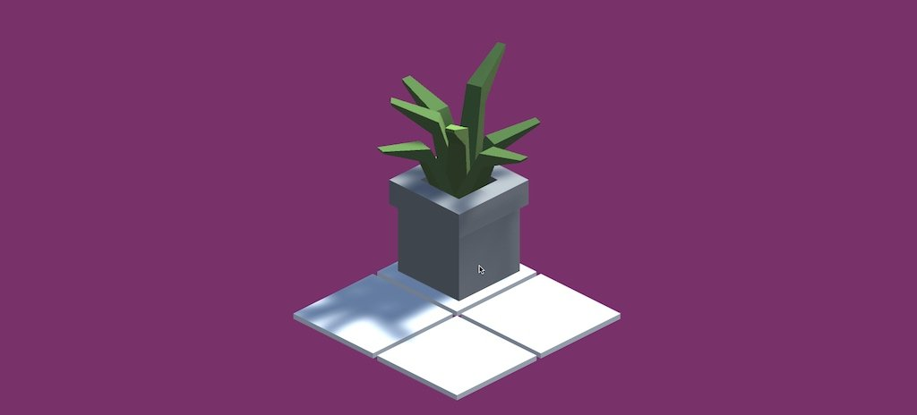 Screenshot of an object snapped to a grid in-game using Unity