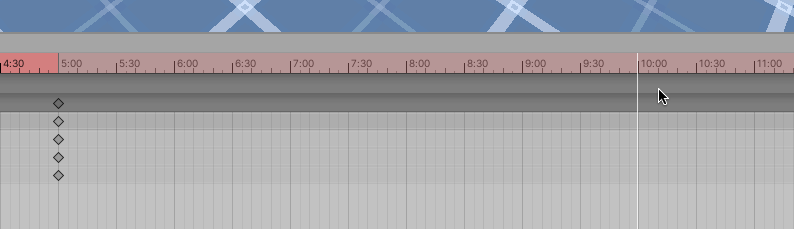 Animation Timeline selection in Unity with Keyframe Recording enabled
