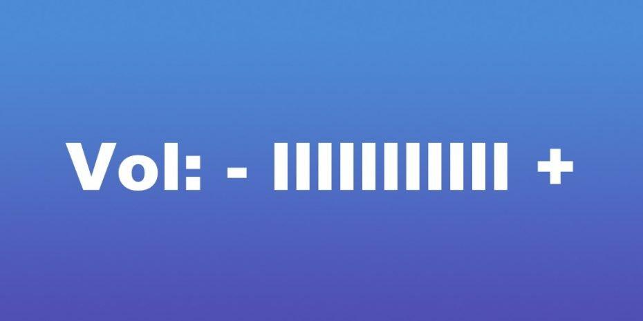 UI Volume Control Graphic