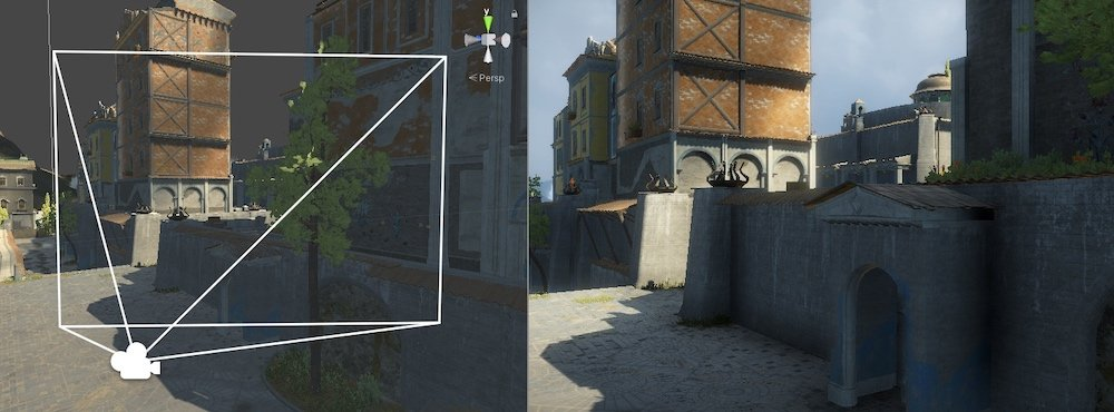 Wide field of view angle Unity
