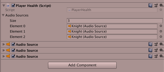 Unity Array of audio sources